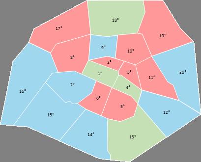 Paris - Editable map