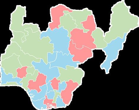 Nigeria - Editable map