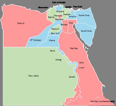 Egypt - Editable map