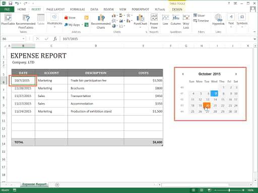 Excel add-in - XLTools Calendar