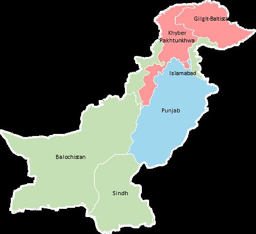 Pakistan - Editable map