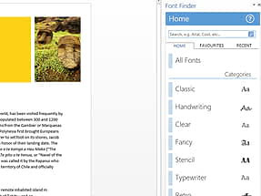Word add-in l Font Finder