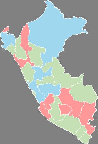 Peru - Editable map