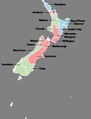 New Zealand - Editable map