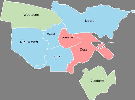 Amsterdam - Editable map