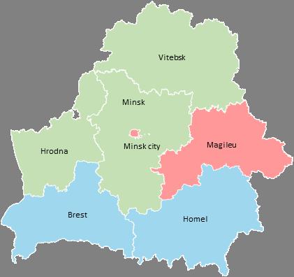Belarus - Editable map