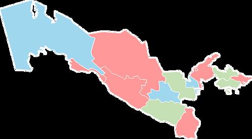 Uzbekistan - Editable map