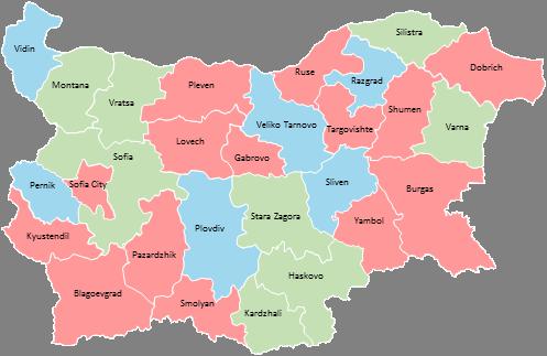 Bulgaria - Editable map