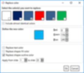 Power-user add-in for PowerPoint, Excel and Word - Replace Colors