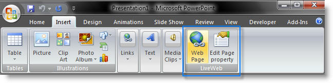 PowerPoint add-in l LiveWeb