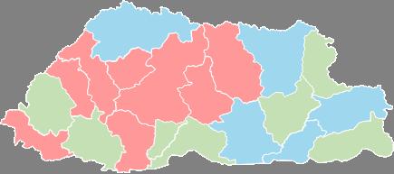 Bhutan - Editable map
