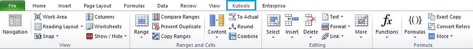 Excel add-in - Kutools