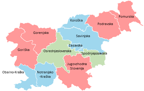Slovenia - Editable map