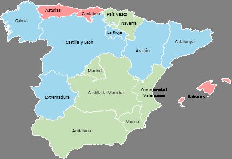Spain - Editable map