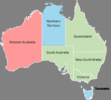 Australia - Editable map