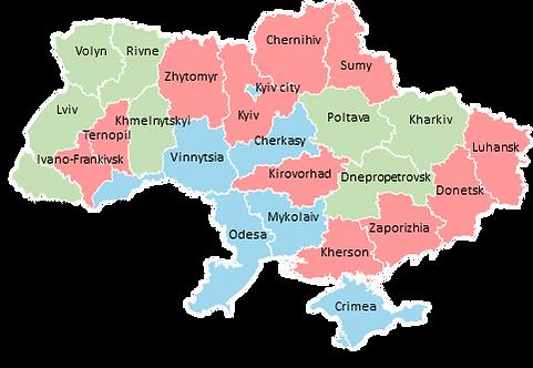 Ukraine - Editable map