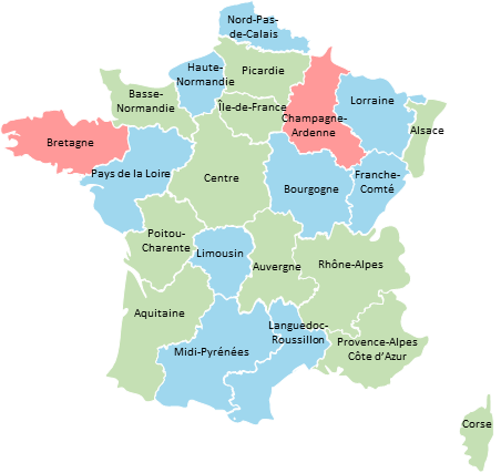 BUNDLE - France 6 maps