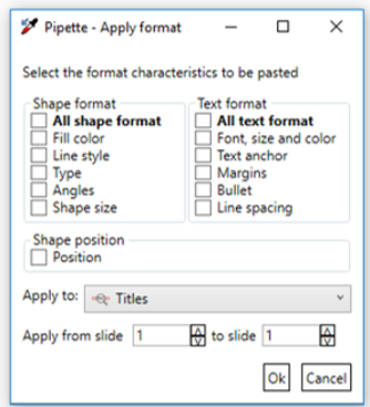 Power-user l PowerPoint features l Pipette formatting tool