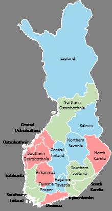 Finland - Editable map