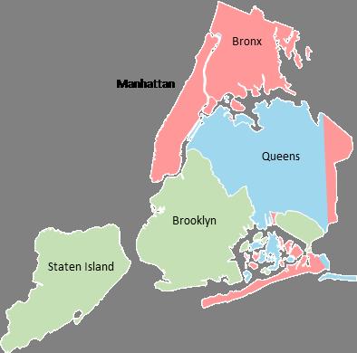 New York - Editable map