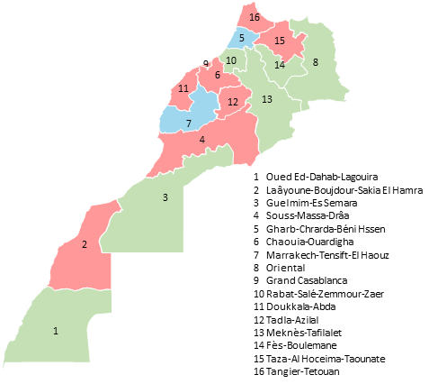 Marocco - Editable map