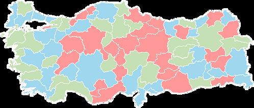 Turkey - Editable map