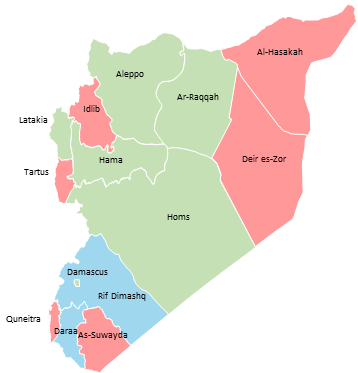 Syria - Editable map