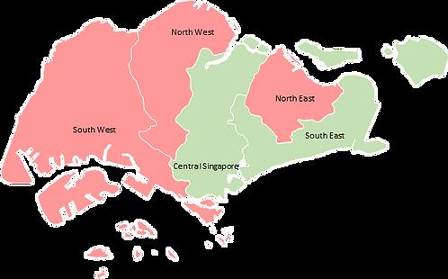 Singapore - Editable map