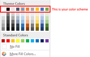 Color schemes in PowerPoint - What it is
