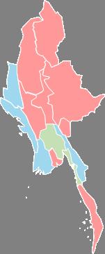 Myanmar - Editable map