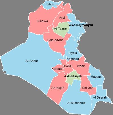 Irak - Editable map