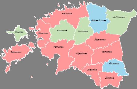 Estonia - Editable map