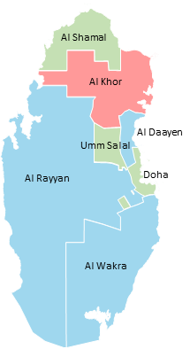 Qatar - Editable map
