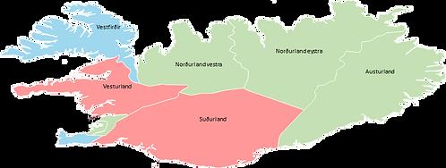 Iceland - Editable map