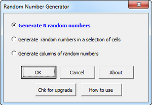 Excel add-in - Random Number Generator
