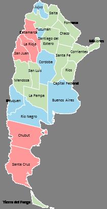 Argentina - Editable map