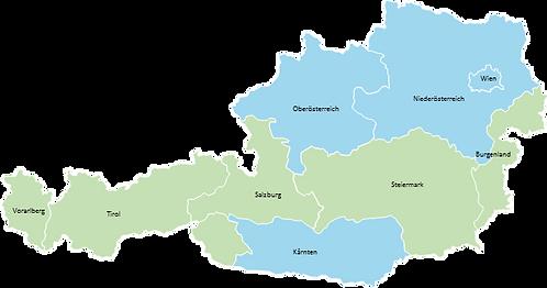 Austria - Editable map