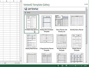 Word add-in L Vertex42 Templates Gallery