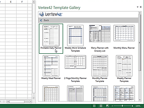 Word add-in L Vertex42 Templates Gallery