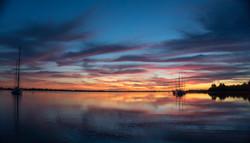 traumhafter Sonnenuntergang Abendstimmung Romantik Meer Sonne