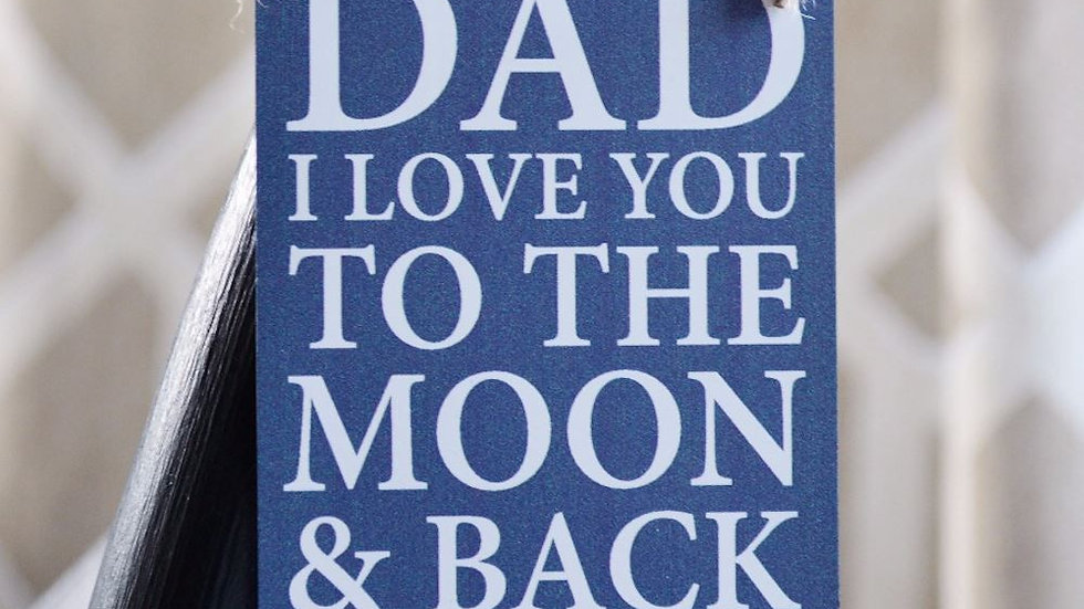 Dad Moon and Back Sign