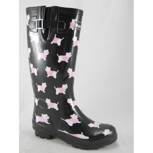 5f7cefa4911 Ladies Wyre Valley Westie Dog Welly