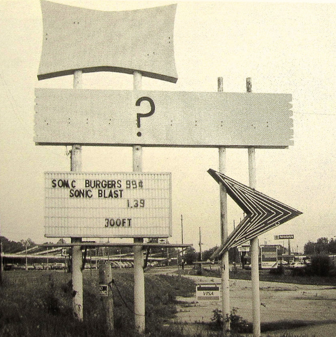 Sign (photo by John Baeder)