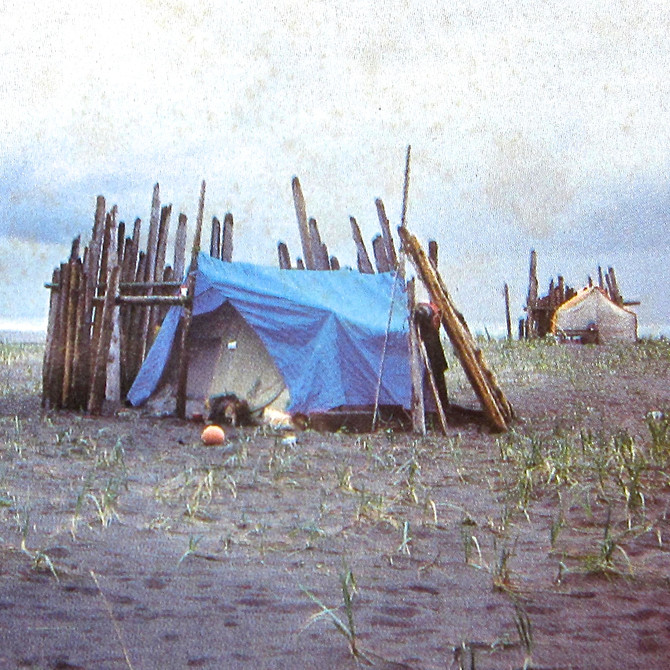 Tlingit Fish Camp, Alaska Panhandle, 1987 (photo by Clarence Summers)