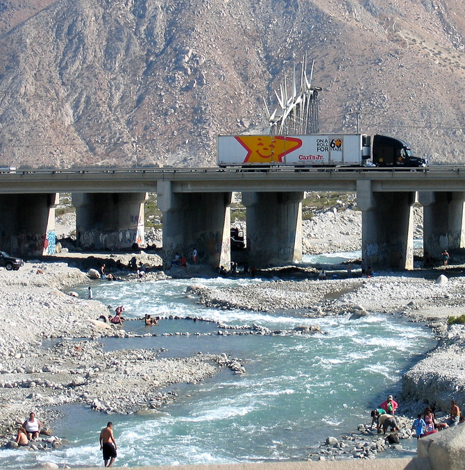 Whitewater River and Interstate 10, California, 2006 (photo by Greg Colson)