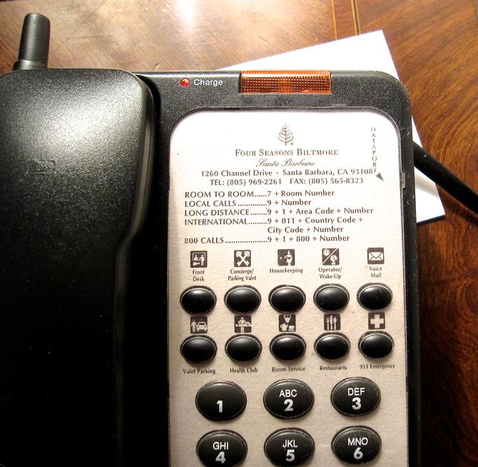 Hotel Phone, Santa Barbara (photo by Greg Colson)