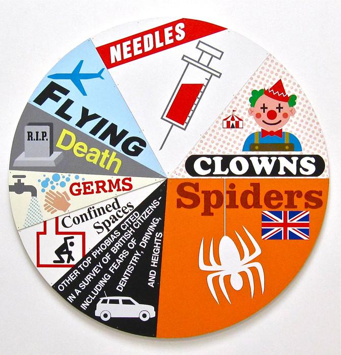"Greg Colson ""Leading British Phobias"" pie chart at HUMAN CONDITION exhibition"