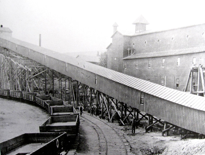Thomas Edison's Iron Ore Milling Plant, Ogdensburg, New Jersey, 1890s
