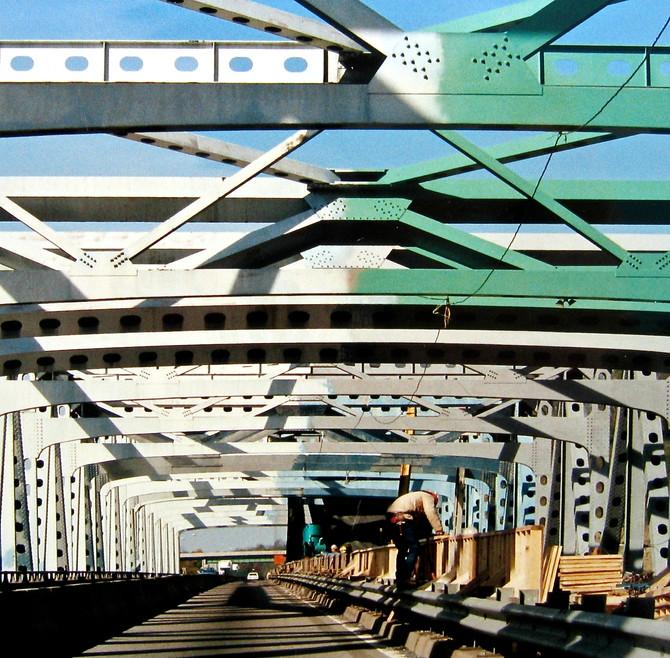 Bridge Maintenance, Nitro, West Virginia, 1990 (photo by Greg Colson)