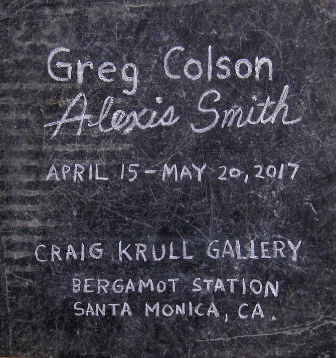 Greg Colson/Alexis Smith exhibitions at Craig Krull Gallery, Santa Monica